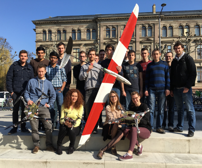 équipe Drone de l'INSA Strasbourg