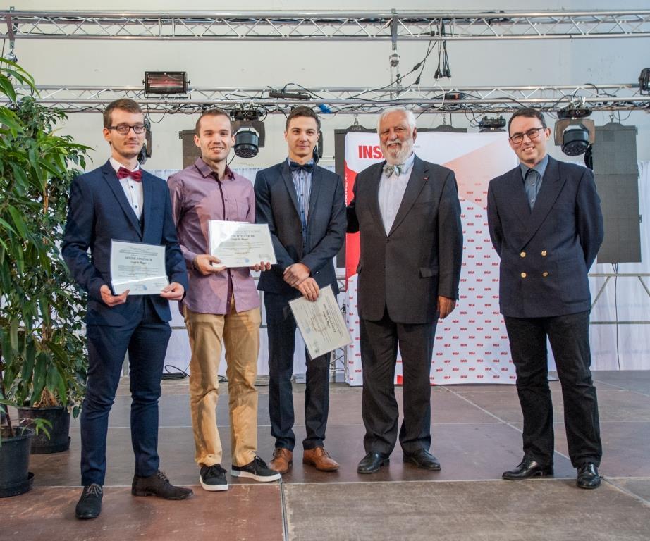 Remise des diplômes par les représentants de l'INSA Strasbourg et de l'ITII Alsace