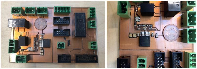 Exemple de carte produite avec les moyens du laboratoire